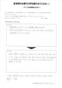 広江様 (事故 膝のけが)